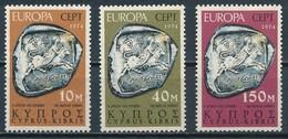 °°° CIPRO CYPRUS - Y&T N°401/3 - 1974 MNH °°° - Cipro (Repubblica)