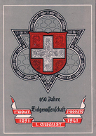 Suisse, 1291 1er Août 1941, 650 Ans Eidgenossenschaft + Timbre Pro Patria (463) 10x15, Pli - ZH Zurich