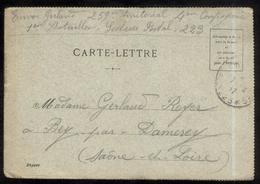 CPA  Carte Lettre Brasserie Karcher - 6 Images Format CPA - Circulée 1917 - Publicité