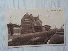 1946 CP Neufvilles Lez Soignies La Gare Station - Soignies
