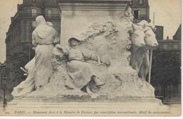 75 ( Paris ) - PARIS - Monument Elevé A La Memoire De Pasteur, Par Sousciption Internationale, Motif Du Soubassement - Francia