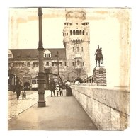 PHOTO ORIGINALE ALLEMAGNE COLOGNE JUILLET 1912 - KOLN HOHENZOLLERNBRUCKE - PONT HOHENZOLLERN - Plaatsen