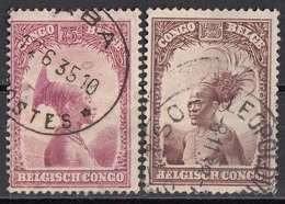 Congo Belga 1931 Sc. 146-148 Donna E Capo Magrebini - Viaggiato Used - Congo Belga