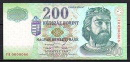 329-Hongrie Billet De 200 Forint 1998 FH000 Neuf - Ungarn