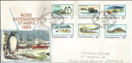 Lettre Base Scott (Obliteration Scott Base) Volcan Erebus, Territoire De ROSS, Adressée En Australie. - Ross Dependency (New Zealand)