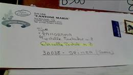 VIGEVANO DITTA CANTONI MARIA SALUMI  Busta Commerciale VB2001  PRIORITARIO HB9075 - Vigevano