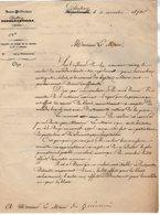 VP14.650 - PONTIVY 1870 - Guerre 1870 / 71 - Lettre Du Sous Préfet Objet Militaire à Mr Le Maire De GUEMENE - Historical Documents