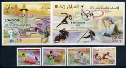 Iraq, Olympic Games 2012, 4 Stamps + 2 Blocks - Zomer 2012: Londen