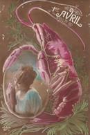 1 ER AVRIL LANGOUSTE FEMME EDITERU FURIA 1827/3 - 1er Avril - Poisson D'avril