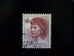 Norway, Scott #1004, Used (o), 1992, Queen Sonja, 2.80k, Brick Red - Norway