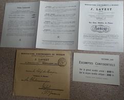 Petit Catague 1930 - Piano Instruments De Musique Luthier - J Lavest - Enveloppe Escomptes Confidentiels - Objets Dérivés