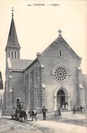 74  -  CPA VINZIER L'église  RARE - Autres Communes