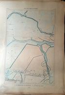 85 LE GRAND PONT BEAUVOIR BARRE DU MONT  PLAN DU PORT ET DE LA VILLE  EN 1882 DE L'ATLAS DES PORTS DE FRANCE 49 X 67 Cm - Cartes Marines