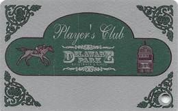 Delaware Park Racetrack & Slots Stanton, DE - BLANK Slot Card With Silver Circle Around Punch Hole - Casinokaarten