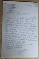 Ancien Courrier Entête Paul Borelly - Compositeur De Musique - Courrier Manuscrit Signé 1985 - Objets Dérivés
