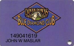 Dover Downs Racetrack/Casino - Dover, DE USA - Blue Diamond Club Slot Card - Casino Cards