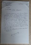 Ancien Courrier Entête Paul Borelly - Compositeur De Musique - Courrier Manuscrit Signé 1985 (2) - Objets Dérivés