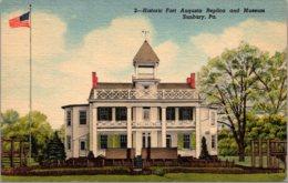 Pennsylvania Sunbury Historic Fort Augusta And Museum Curteich - Museum