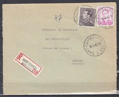 Aangetekend Briefstuk Van Sart-Dames-Avelines A Naar Anvers - 1936-51 Poortman