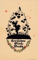 DR :Plischke Karte HERZLICHEN GLÜCKWUNSCH Mit EF MiNr. 432 V. 1929. - Scherenschnitt - Silhouette