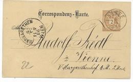 GANZSACHE  VON LASSEE  NACH WIEN    1886 - 1850-1918 Empire