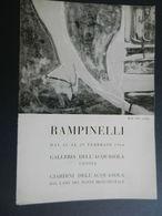 8g) ARTE PITTURA ARTISTA RAMPINELLI 1964 GALLERIA ACQUASOLA GENOVA 1964 FORMATO 17 X 24,5 Cm CIRCA 4 PAGINE CON FOTO - O - Magazines: Subscriptions