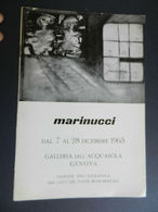 8g) ARTE PITTURA MARINUCCI ARTISTA 1963 GALLERIA ACQUASOLA GENOVA 1963 FORMATO 17 X 24,5 Cm CIRCA 8 PAGINE CON FOTO - OT - Riviste: Abbonamenti