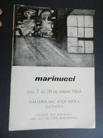 8g) ARTE PITTURA MARINUCCI ARTISTA 1963 GALLERIA ACQUASOLA GENOVA 1963 FORMATO 17 X 24,5 Cm CIRCA 8 PAGINE CON FOTO - OT - Zeitschriften: Abonnement