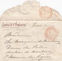 LETTRE PARIS. 1866. SERVICE DE L'IMPERATRICE. N° 2776 BUREAU DU PALAIS DE ST CLOUD POUR LE CHATEAU DE MAUBOURG   / 1050 - Storia Postale