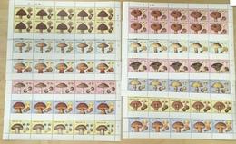 Bhutan Full Sheets Set Mushrooms Mustique Fungi - Mushrooms