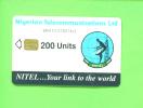 NIGERIA - Chip Phonecard 200 Units Reverse Sateliite Dish - Nigeria