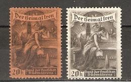 Allemagne - Der Heimat Treu - Bund Der Deutschen Südmährens - Petit Lot De 2 Vignettes Publicitaires - NSG - Erinnophilie