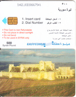 SYRIA(chip) - Old Fort, Easycomm Telecard 500 SP(large CN), Used - Siria