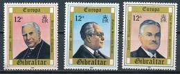 °°° GIBRALTAR - Y&T N°407/9 - 1980 MNH °°° - Gibilterra