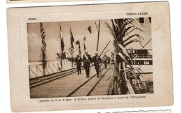 Boma - Congo-Belge - Arrivée De S.A.R. Mgr Le Prince Albert De Belgique à Bord De L'Hirondelle - Circ. 1910 - 2 Scans - Autres