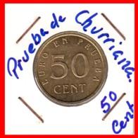 ESPAÑA --  ( EUROPA ) MONEDAS DEL EURO EN PRUEBA ( CHURRIANA-MALAGA ) AÑO 1998 –AL- 2001 - España