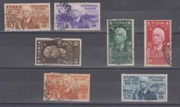 Italia Colonie Etiopia 1936 Serie Vittorio Emanuele Lll Usata - Etiopia