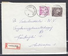 Aangetekend Briefstuk Van St Andries Bij Brugge B Naar Antwerpen - 1936-51 Poortman