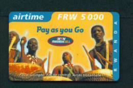 RWANDA - Remote Phonecard As Scan - Ruanda