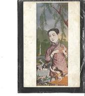 """Asie-Japon-Portrait D'une """"GEISHAS """" Jouant Avec Un Petit CHAT - Giappone"""