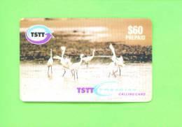 TRINIDAD AND TOBAGO - Remote Phonecard/Birds - Trinidad & Tobago