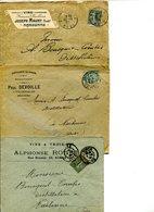 Enveloppes Anciennes #4 Au Sujet De Vins,spiritueux Etc. - Levensmiddelen