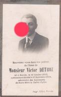 MARCHE VICTOR DETROZ 1905 - 1924 - Décès