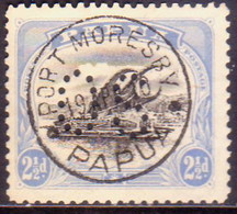 PAPUA (BRITISH NEW GUINEA) 1908-10 SG #O6a 2½d Black And Pale Ultramerine Used Official Wmk Upright Perf.11 - Papouasie-Nouvelle-Guinée