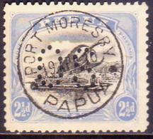 PAPUA (BRITISH NEW GUINEA) 1908-10 SG #O6a 2½d Black And Pale Ultramerine Used Official Wmk Upright Perf.11 - Papua New Guinea