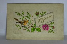Carte Brodée Ste Jeanne - Embroidered
