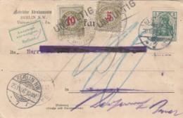 Schweiz Postkarte 1908 Porto - Used Stamps