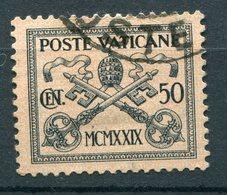 Vaticano - Conciliazione (1929) 50c. Used Sass. 5 - Vatican