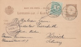 Ungarn Yugoslavia Postkarte 1894 - Hungary