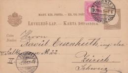 Ungarn Yugoslavia Postkarte 1897 - Hungary